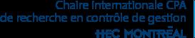 Chaire internationale CPA de recherche en contrôle de gestion